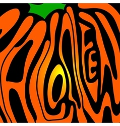 Pumpkin lettering for Halloween on a background vector image