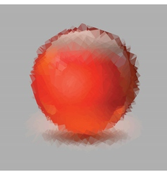 red sphere vector image vector image