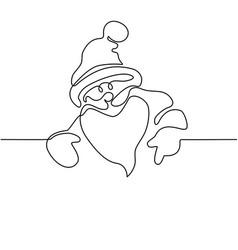 santa claus poster vector image vector image