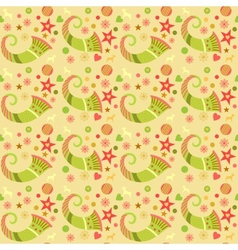 Seamless pattern christmas wrapping paper for vector image vector image