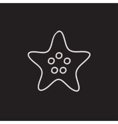 Starfish sketch icon vector image