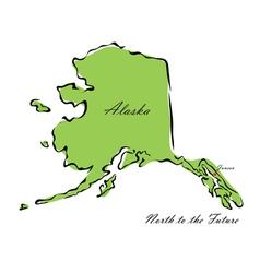 State of Alaska vector image