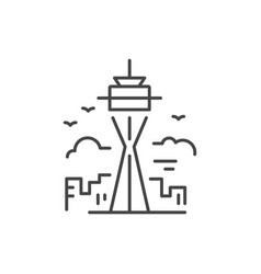 Tower line icon vector
