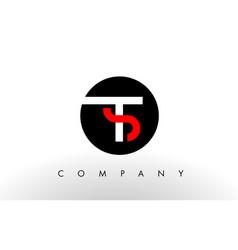 ts logo letter design vector image