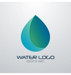 Water drop abstract logo design template vector
