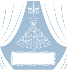 Wedding card with curly dress vector image