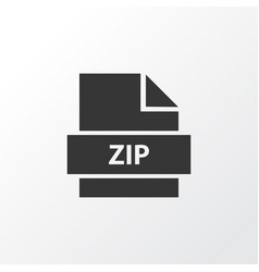 zip icon symbol premium quality isolated archive vector image vector image