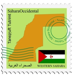 mail to-from Western Sahara vector image