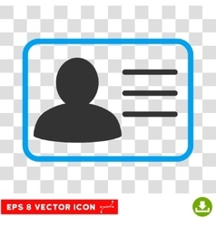 Account card icon vector