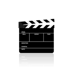 Movie film clapper board isolated vector