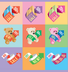 Banners and stickers containing information vector