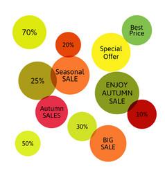 big autumn sale badge label special offer vector image