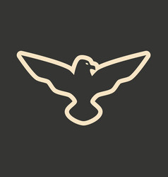 flat in black and white mobile application eagle vector image