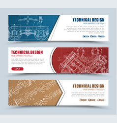Templates banners red blue and brown with vector
