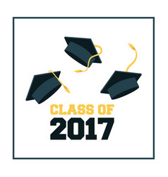 Academic graduation design vector