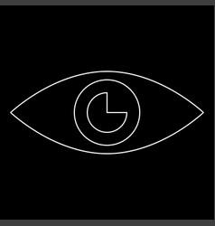 Eye the white path icon vector