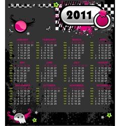 Emo calendar for 2011 vector