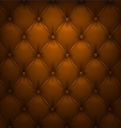 Brown upholstery leather pattern background vector
