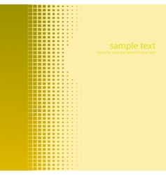gold halftone background vector image