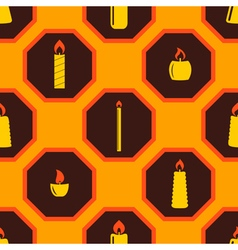 Seamless background with candle vector