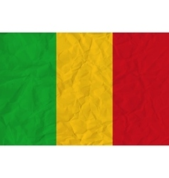 Mali paper flag vector