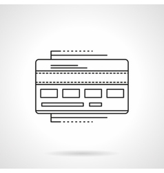 Payment card flat line icon vector