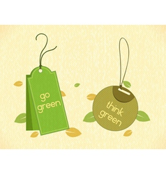 Eco friendly labels vector