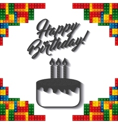 Lego frame icon happy birthday design vector