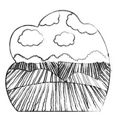 Agriculture landscape design vector