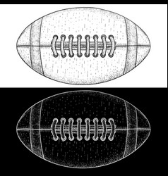 american football ball hand drawn sketch vector image vector image