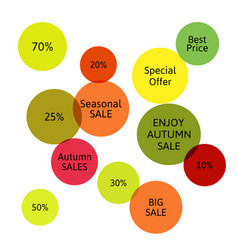 big autumn sale badge label special offer vector image