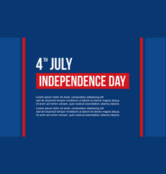 Celebration independence day banner style vector