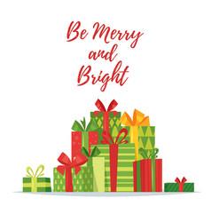 Christmas new year greeting card vector