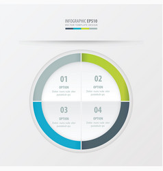 Circle presentation template green blue gray vector
