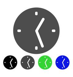 Clock flat icon vector