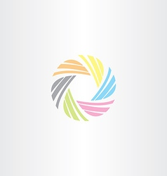colorful business tech circle icon logo vector image