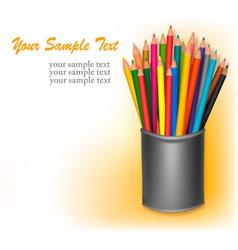 coloring in pencils vector image vector image