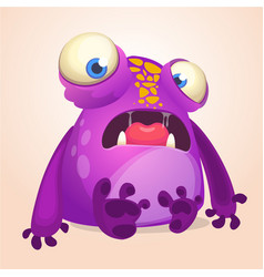 cute cartoon monster halloween vector image vector image