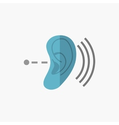 Deafness flat icon vector