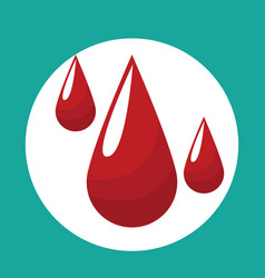drop blood donate icon vector image