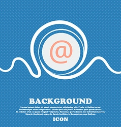 E-Mail sign icon Blue and white abstract vector image