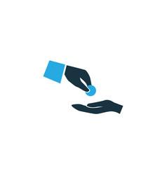 Financial assistance colorful icon symbol premium vector