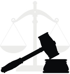gavel and scales vector image