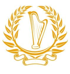harp symbol vector image vector image