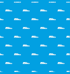Hearse pattern seamless blue vector