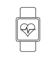 Heartbeat monitor wristband icon vector