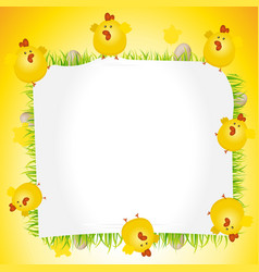 holidays easter chicken poster vector image vector image