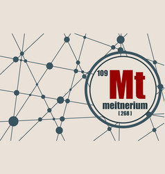 meitnerium chemical element vector image vector image