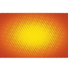 Orange light raster pop art retro background vector image