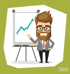 Presentation on flip chart paper vector